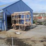 On rembobine : Construction de la roulotte et première édition de la collecte des objets d'enfance (premier semestre 2012)