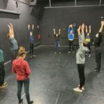 Images de la première séance de la résidence Danse à la Maison du Cirque