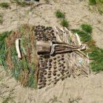 Un inuit à Ecault (images de l'atelier arts plastiques de la Maison Vive, séance du 27 mai)