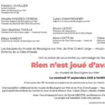 """Inauguration de l'exposition """"Rien n'est joué d'avance"""", du 17 septembre au 14 décembre 2021"""